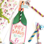 This new 'Pop Some Corks' Bottle Straw Card is perfect for any celebration!Our new bottle straw cards help you celebrate, commiserate and everything in between! Finally! We have solved the problem you didn't know you had…how to drink directly from the bottle and still mind your manners! Send someone a single straw card or check out our Bottoms Up! Bottle Straw Packs!Card Measures 13″ x 5″ Flat Card White envelope* Poly-Sleeved *requires additional postage