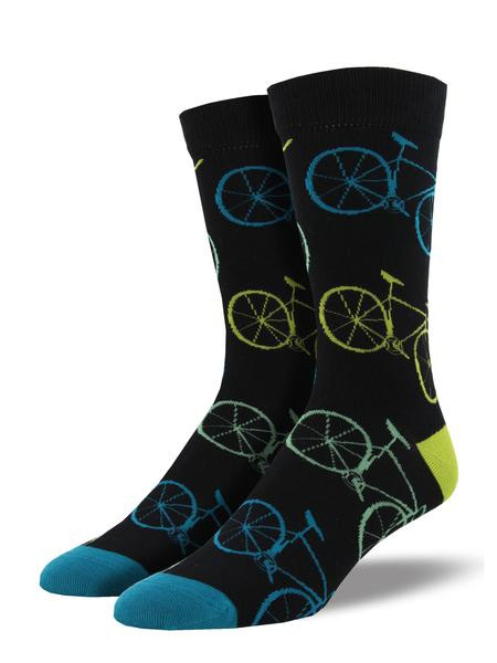 Perfect for the bicycle enthusiast, these socks are a classic. Featuring multicolored road bikes, these socks are sure to be a great addition to your wardrobe.