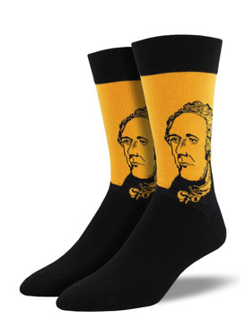 Whether you're a fan of the musical or the Founding Fathers, these Alexander Hamilton socks are sure to make even Lin Manuel Miranda turn his head (he has a pair and LOVES them!). These socks are the perfect final touch to your formal theater attire.
