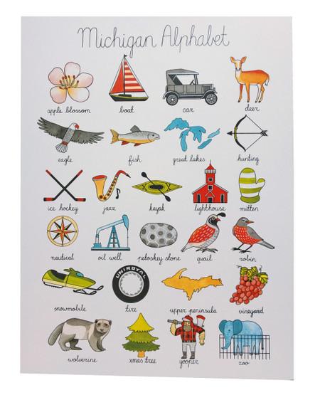 michigan alphabet print