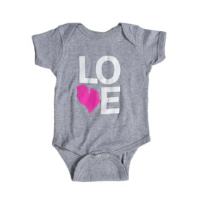 LOVE michigan baby onesie