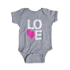 LOVE michigan baby onesie