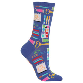 In the mood for some arts and crafts? The new art supply socks from the Hot Sox are the ideal thing to wear while starting your newest creative project!