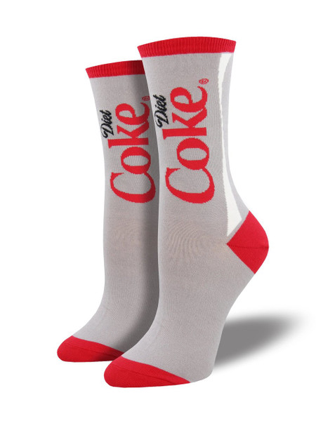 Zero calories, all the flavor. Yes, we're talking about Diet Coke and our Diet Coke socks! They say black is slimming, but have you tried our Diet Coke socks?  Sock size 9-11 fits U.S. women's shoe size 5-10.5  Fiber Content: 63% Cotton, 34% Nylon, 3% Spandex