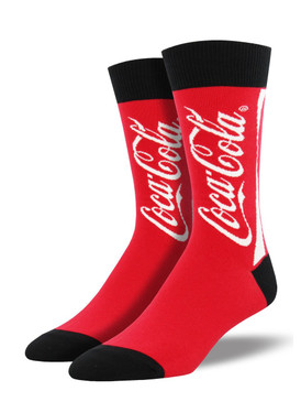 Give your look the classic, bold boost of our Coca-Cola socks. Traditional and fun, these socks are bound to be a conversation starter.  Sock size 10-13 fits U.S. men's shoe size 7-12.5 Fiber Content: 70% Cotton, 27% Nylon, 3% Spandex
