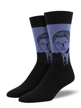 Whether you're democrat or republican, you have to admit, this is one good-looking guy. Wear this handsome president on your socks during your next cocktail party political debate.  Sock size 10-13 fits U.S. men's shoe size 7-12.5 Fiber Content: 70% Cotton, 27% Nylon, 3% Spandex