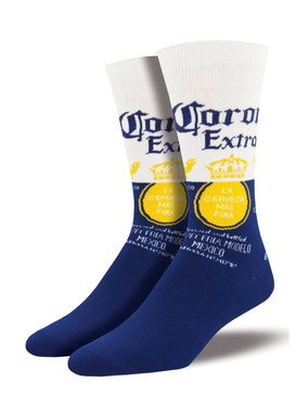 Relax responsibly, Find your beach. Allowing you to relax responsibly wherever you are. With the constant reminder of a refreshing Corona, your feet are never far from the beach. Don't forget the limes!  Sock size 10-13 fits U.S. men's shoe size 7-12.5 Fiber Content: 70% Cotton, 27% Nylon, 3% Spandex