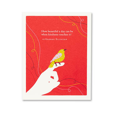 """Inside: Thank you for everything.  Celebrate the most important people in your life with the best-selling Positively Green line of cards, which features beautiful illustrations, thoughtful quotations, and helpful green tips—plus a portion of your purchase goes directly to organizations that protect the environment.  4.25""""W x 5.38""""H Plain white envelope Printed with soy ink on FSC®-certified 100% recycled stock"""