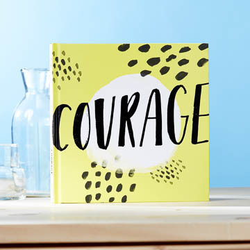 "For big risks and quiet dreams. For trusting your heart and knowing what matters. This book is here to shine a bright light on each and every act of bravery you take. Filled with beautiful typography and bold and encouraging quotations and statements, Courage is here to motivate you for whatever may come next. Because being brave isn't being without fear—being brave is choosing what matters most.  Hardcover 7.75""W x 7.75""H  64 pages"