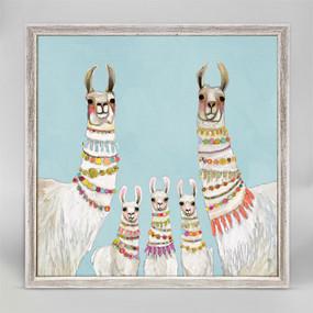 necklaces sky blue mini framed canvas