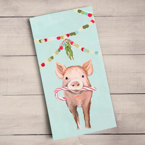 He's here and he's ready to get into the holiday spirit! Candy cane in hand - this little pink piggy is easily the life of the party. Shop this and more adorable art from Cathy Walters. Tea time just got a much needed makeover! Transform your kitchen with our unique and fully decorative tea towels. These 100% cotton tea towels feature beloved work from some of your favorite artists! Function meets fabulous with our delightfully absorbent, machine washable, and high-quality tea towels.  Artist:   Cathy Walters    Cotton 21x28