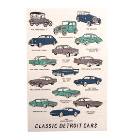 Celebrate the Motor City and its great legacy of automotive design with this classic Detroit cars postcard.  A classy way to say hello to a friend, while sharing your Detroit pride.