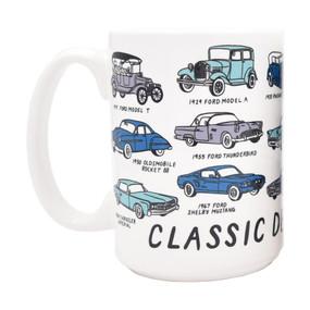 classic detroit cars mug