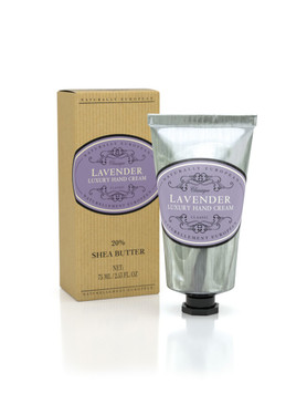 Naturally European Hand Cream is rich in shea butter and one of the best around. Once you've tried it, there really is no going back. With 20% shea butter, its thick texture melts into hands leaving them silky smooth and softly scented.  Lavender - Light and relaxing  -Like wandering through fields in Provence, the classic lavender fragrance is fresh, light and evocative. A popular ingredient  in perfume and ancient medicine due  to its powerful healing properties.   75 ml / 2.5 fl oz