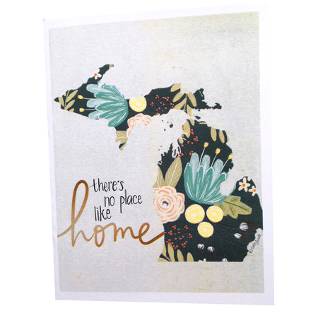 Celebrate your favorite place with this handmade card by Katie Doucette. Size: 5.5x4.25 sleeved in cello Blank inside