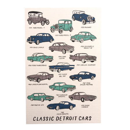 Celebrate the Motor City and its great legacy of automotive design with this Classic Detroit Cars magnet. Size: 2.5x3.5