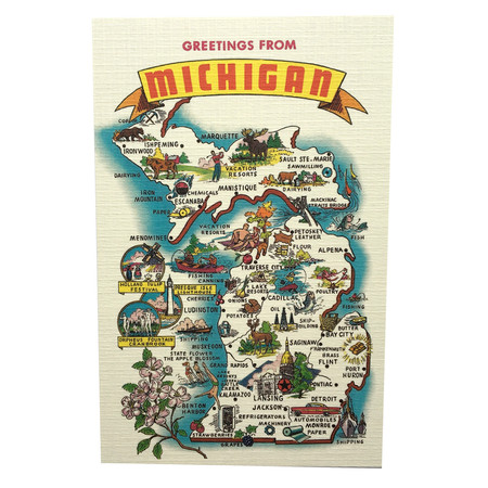 Greetings from the state of michigan postcard greeting michigan a classy way to say hello to a friend while sharing your michigan pride m4hsunfo