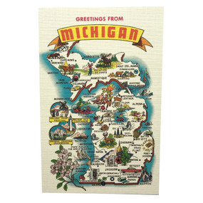 A classy way to say hello to a friend, while sharing your Michigan pride. Produced by City Bird and Made in Michigan.  Size: 5.5x3.5