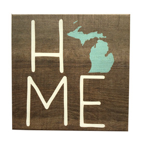 Celebrate your favorite state with this chunky block painted wood sign handmade in the USA. Size: 5x5x1.25