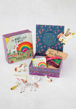 7 Irresistible Treasures! Includes: 1 Air Freshener, 1 Magnet Happy Clip, 1 Patch, 1 Lucky Little Token, 1 Half Boho Bandeau, 1 Sticker & 1 Happy Pin. Sentiment: The world is full of nice people, if you can't find one, be one Composition: paper Dimensions: 5.25in L x 5.25in W x 1.75in H