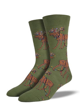 Brighten up your Christmas with these zany moose socks!
