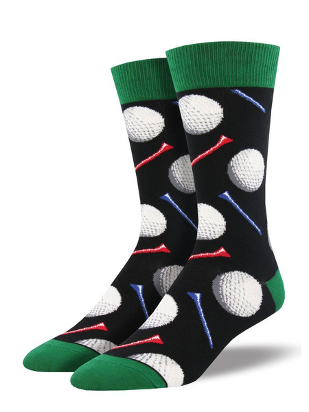 Are you looking for fun socks with a sporty flare? Tee It Up! Our golf socks are on par with the best sock game out there. Whether walking the green or lounging at the nineteenth hole, these sports socks will take you through the day in style.   Sock size 10-13 fits U.S. men's shoe size 7-12.5 Fiber Content: 70% Cotton, 27% Nylon, 3% Spandex