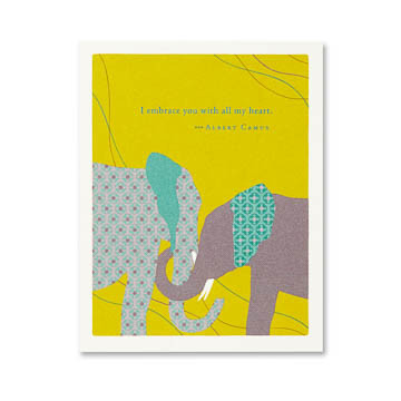 """Inside: Thank you for being you. Celebrate the most important people in your life with the best-selling Positively Green line of cards, which features beautiful illustrations, thoughtful quotations, and helpful green tips—plus a portion of your purchase goes directly to organizations that protect the environment.  4.25""""W x 5.38""""H Plain white envelope Printed with soy ink on FSC®-certified 100% recycled stock"""