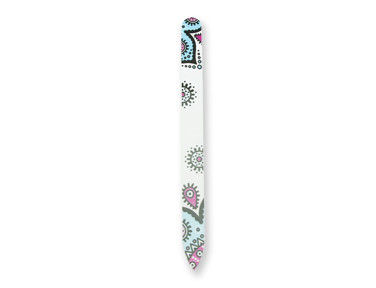 glass nail file collection with a paisley inspiration