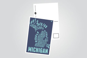 4x6 postcard showcasing all the counties in our great state of Michigan. UV coated for a sleek glossy finish.