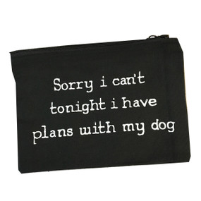 plans with dog makeup bag