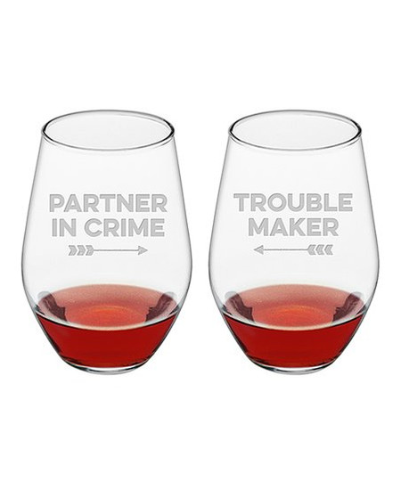 Because every trouble maker needs a partner in crime. Size: 21 oz