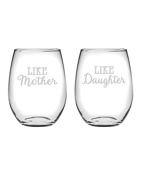 Split a bottle of a special vintage with this charming pair of stemless glasses that boast a playful design and help you to unwind in style after a long day. Size: 21 oz