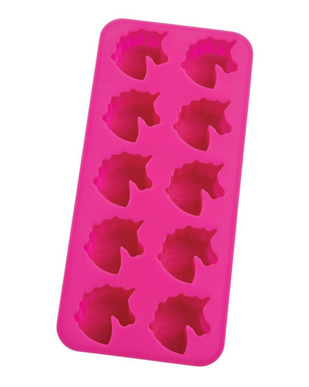 HIC Silicone Unicorns Ice Cube Tray and Baking Mold for freezing, baking and molding foods and liquids and making DIY crafts Made from 100-percent pure silicone; FDA-approved, naturally non-stick, heat-resistant (to 500-degrees Fahrenheit), and no fillers Each tray measures 8.5-inches x 4-inches; makes 10 unicorn-shaped ice cubes Freeze water, juice or other beverages, bake brownies, cookies and mini cakes, mold butter, spreads, chocolate, candies, even soaps, candles, and more Hangs for drying and easy storage; safe for freezer, oven, microwave and dishwasher for easy cleanup
