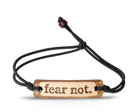 """One of the greatest discoveries a man makes, one of his great surprises, is to find he can do what he was afraid he couldn't do."" -Henry Ford  Product details: - Handcrafted in Indiana - Clay piece with elastic cord - Words are stamped into the clay - Waterproof - wear it 24/7! - Adjustable from 5"" to 8"" - one size fits most  We donate $4 from every bracelet sold to charitywater.org  Note: Bands come in assorted colors."