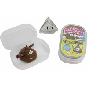 "There are some days you just feel like a poop emoji-smiling but still poop. The Melting Poop Putty Set combines the craze of putty with the equally popular poop emoji image to form a part craft/part toy set. This moldable putty comes in an easy-to-store container with its own poop emoji mold. The non-toxic ""poop"" putty in the Melting Poop Putty Set is non-toxic and reusable. Simply fill up the poop emoji mold with the putty and then un-mold your own melting poop emoji. As the poop sits, it starts to melt and returns to its original putty form. Use the mold over and over for poopy fun!  Melting Poop Putty Set Features: Material: Non-toxic Putty, ABS Size: 2.75""L x 1.5""W x 4.25""H"