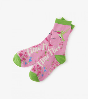 Your morning routine just got a little funnier with these awesome crew socks. Cute designs, silly jokes, even if you have a case of the Mondays these socks will put a smile on your face. Features: Dragonflies print Comfy socks with fun designs Contrast heel and toe 55% cotton, 44% nylon, 1% spandex.