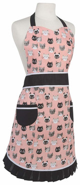 The Betty apron features fun, feminine prints with chic detailing. This vintage-inspired apron is constructed in a lightweight cotton fabric and finished with pretty pleats and eye-popping accents. Be inspired to cook and bake delicious meals with this bright and cheerful print! 100% cotton W30 x L34 inch Made in China