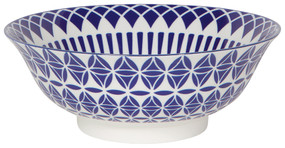 "Eye-catching porcelain bowls with contrasting patterns are stunning, either as a collection or as accent pieces. Stamped designs have a wonderful texture and hints of color circling hand-painted rims. Porcelain Size: 8"" Made in China"