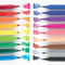 Go big and wild with your next art project using these Big Bright Brush Markers! You can make thick or thin lines and the best part is, if you end up getting any marks on your hands or clothes, you can easily wash the marks away. Set of 18 jumbo washable brush markers Draw thick or thin lines Great for little hands