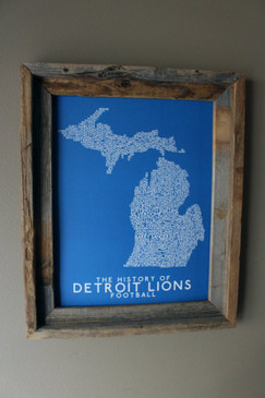 history of detroit lions football print