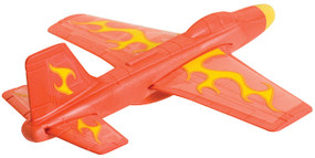 These foam flyers soar up to 50 feet straight, or you can bend the wing flaps to make them perform loops and stunts. 7 inch wingspan.  Assorted styles - each sold separately.
