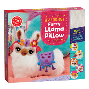 Learning to sew becomes fun, friendly, and simply adorable! Following along with step-by-step, illustrated, playfully written instructions, young learners get to master all sorts of useful sewing techniques while making a new friend they'll cherish for years to come. Learn about basic stitches including straight, back, and ladder while assembling and attaching the llama's face to the wonderfully fuzzy faux fur pillow. Then, use your new skills to get creative and personalize your new friend any way you want! Add a bow tie and a top hat, wings and a magical horn, a festive halo of felt flowers, a pair of playful tassels, a bright cozy saddle... It's entirely up to you! Sew Your Own Furry Llama Pillow Arts-and-crafts kit for learning how to sew while making a custom llama pillow Encourages dexterity, spatial reasoning, creativity, self-expression A playful introduction to creative thrills of sewing! Learn basic stitching techniques including straight, back, and ladder Use your new skills to assemble the llama, then customize it any way you want Includes precut faux fur, precut felt in 3 colors, precut cotton fabric, felt (4x4 in 3 colors), paper patterns, 8 pom-poms, 14 sequins, 2 ounces stuffing, 2 sewing needles Detailed instruction book included High quality materials - Exceptional crafting experience Ages 8-12
