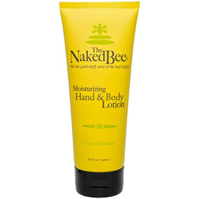 "Soothe and moisturize your skin with this 6.7-oz. tube of lotion scented with light citron and honey. Perfect for both hands and body, put this lightweight cream on after a shower or bath or before bedtime for relaxing and calming therapy that also hydrates. Enjoy all of the good stuff and none of the bad stuff with Naked Bee products. Naked Bee lotion in citron and honey fragrance. Hypoallergenic, PH balanced and non-comedogenic. Natural and paraben-free. No dyes or pigment. No propylene glycol or mineral oil. No lauryl or laureth sulfate. 6.7 oz. 1.75"" W X 3"" H X 7"" D"