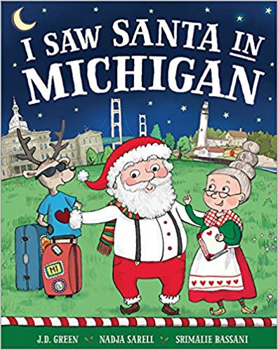 JD Green, illustrated by Nadja Sarell & Srimalie Bassani  Santa and Mrs. Claus want to go on a vacation—but can someone as famous as Santa stay out of sight? •  This series offers an interactive search component that will have children looking for Santa in fun and silly places throughout their region • The perfect holiday stocking stuffer for out-of-town loved ones or a great souvenir • With 74 books covering all 50 states and major U.S. and Canadian cities, each book in this series features art and text created specifically for that location Santa, Mrs. Claus, and their reindeer are on vacation in one of their favorite spots, but despite his intention to go incognito, Santa is hiding in plain sight—and the local children have started to notice!  Find out what happens when more and more children start to spot Santa. This Christmas regional series combines a fun and festive story with search-and-find artwork that will have children looking for Santa among his favorite vacation spots.