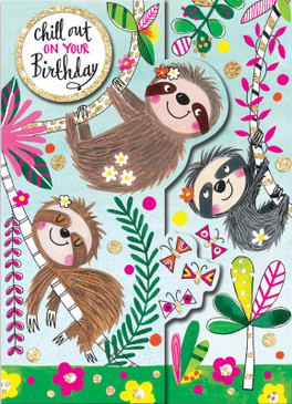 sloths | birthday card