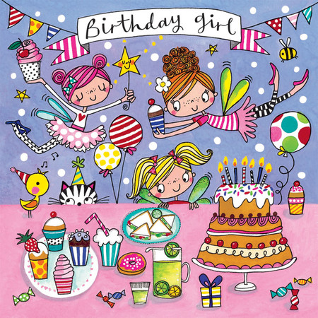 fairies birthday girl jigsaw puzzle, birthday  card