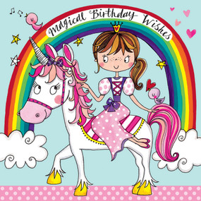 unicorn jigsaw puzzle, birthday card