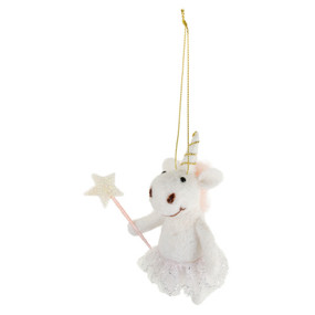 Bring your Christmas alive with this  magical unicorn ornament!   Perfect for the Christmas tree, or a miniature companion for all who still believe in magic  Size: 4.75""