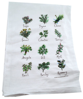 herb flour sack towel kitchen gift for cook baker mom mothers day grandma
