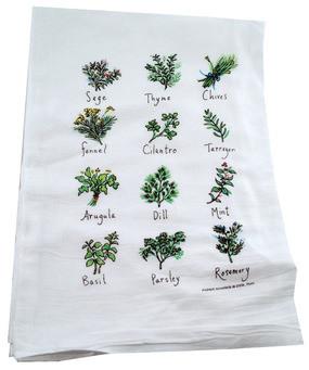 Flour Sack Towel Herbs